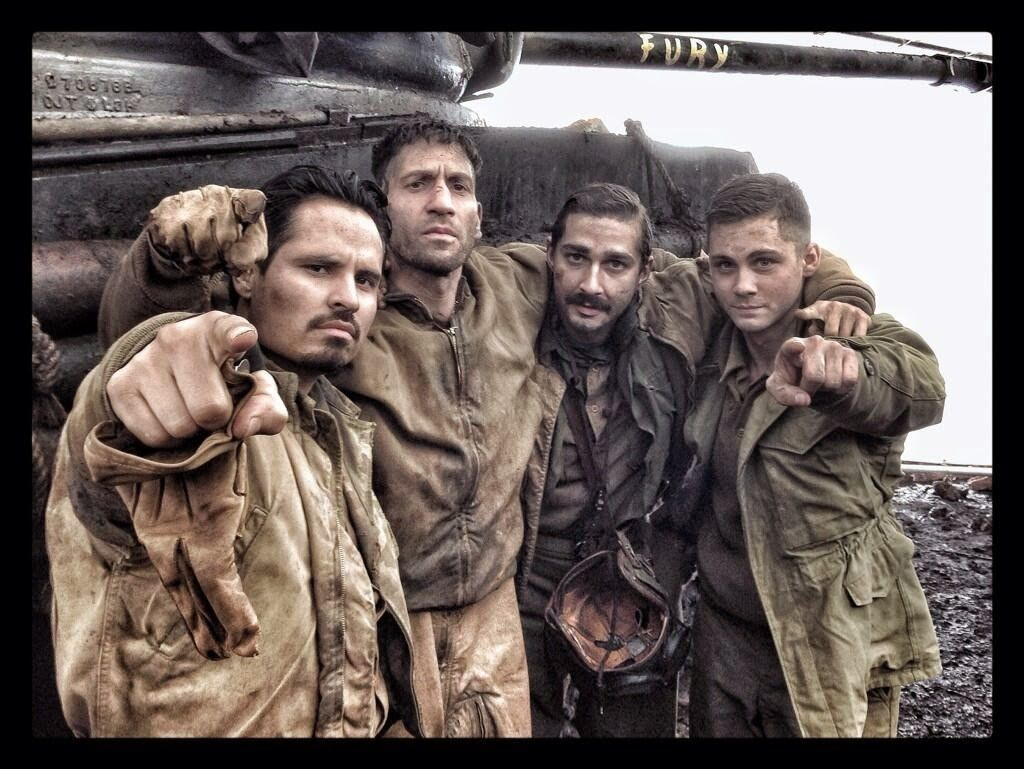 Experience the movie Fury with the colors of war