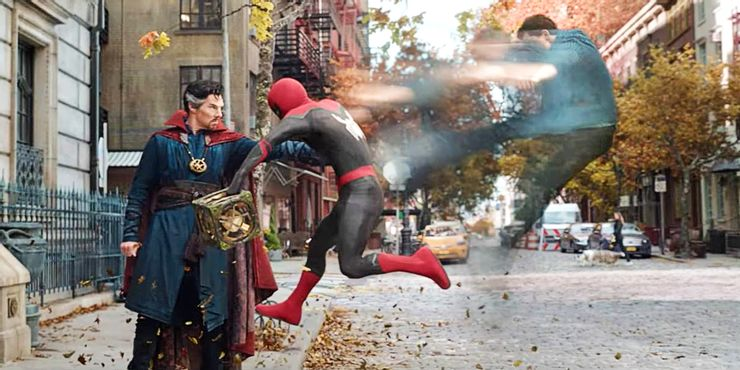 Doctor Strange and Peter Parker in No Way Home